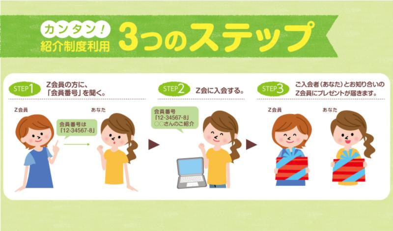 Z会 友人紹介制度2